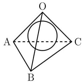 正四面体の内接球の接点は各面の重心!