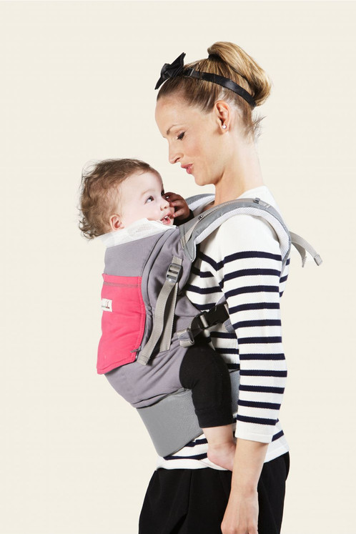 JPMBB PhysioCarrier Grey And Fuchsia The Sling Collection Hong - Porte bebe physiocarrier