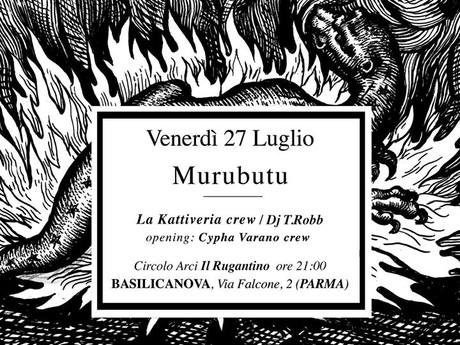 Graffiti Area  by McLuc Culture al concerto di Murubutu a Basilicanova