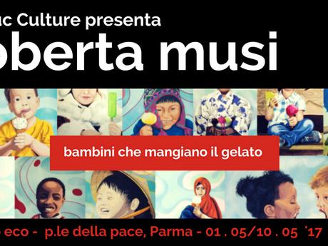 Bambini che mangiano il gelato: Roberta Musi a Parma
