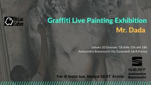 McLuc Culture presenta Graffiti Live Painting Exhibition con Mr. Dada