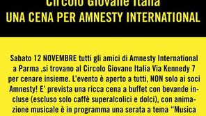 A Parma una cena per Amnesty International