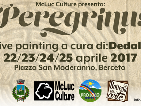 Preregrinus: street art live painting a Berceto con Dedalo