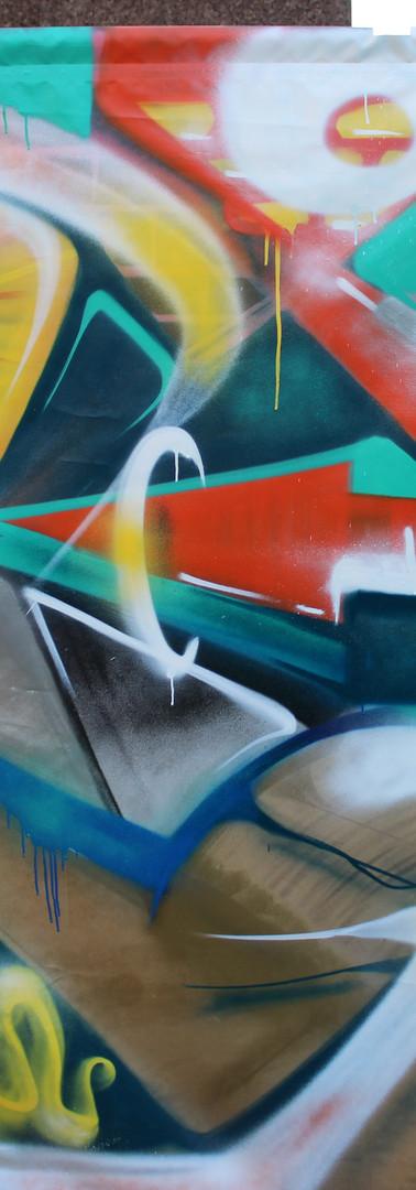 Imbrattamenti & Turpiloqui. Graffiti e poesia due giorni presso il modulo eco in piazzale della pace. Parma -  Febbraio 2017.