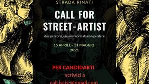 Call For Street Artist                               In Strada Caduti In Strada Rinati