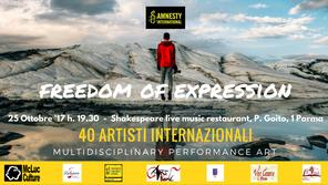 Freedom of Expression: 40 artisti per Amnesty International a Parma