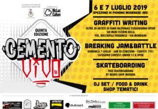 Cemento Vivo Street Jam nazionale di graffiti V° edizione a Spezzano di Fiorano