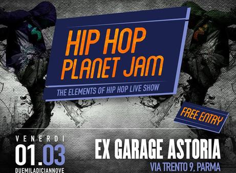 A Parma: Hip Hop Planet Jam. The elements live show. Free entry 1 Marzo'19