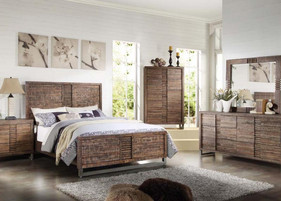 I#21284CK _ King Bed Wood