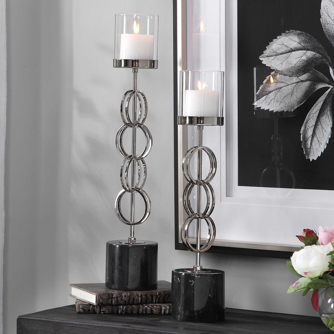 I#17564 _ Candle holders Esme Silver