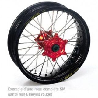 250 CR/CRF 95-10 17x4.50x36T, JANTE NOIRE MOYEU ROUGE