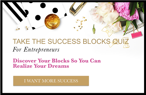 Success Blocks Quiz Image with Black Fra