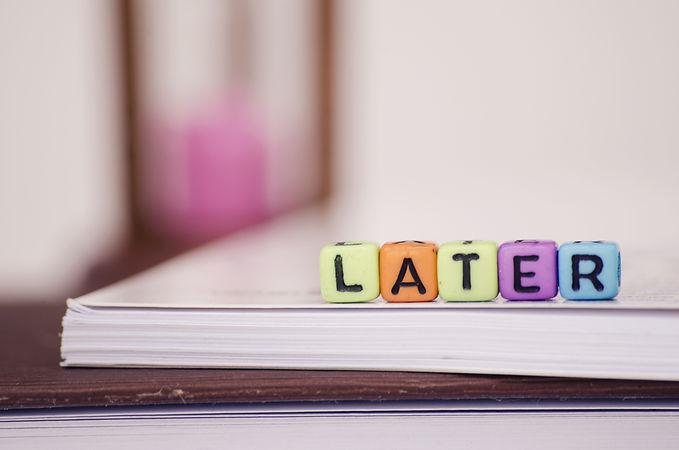procrastination and urgency concept, cub
