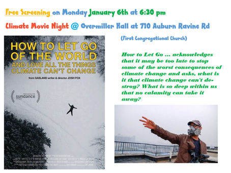 """January 6, 2020: Free Climate Movie Night - """"How to Let Go of the World and Love All The Things"""