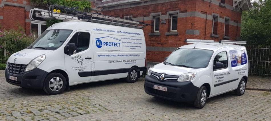 Intervention de AL Protect Artisan Couvreur Zingueur en Hainault Belgique