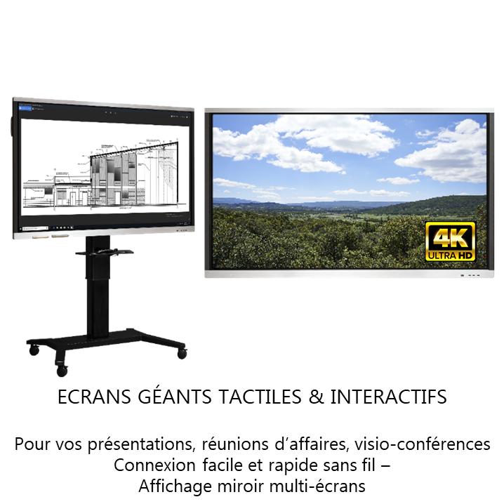 Ecran géants tactiles et interactifs