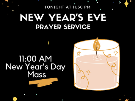 New Year's Prayer Service & Mass