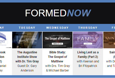What's new on FORMED this week?