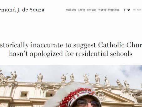 Fr. Raymond J. de Souza: on the Church's Apology for Residential Schools