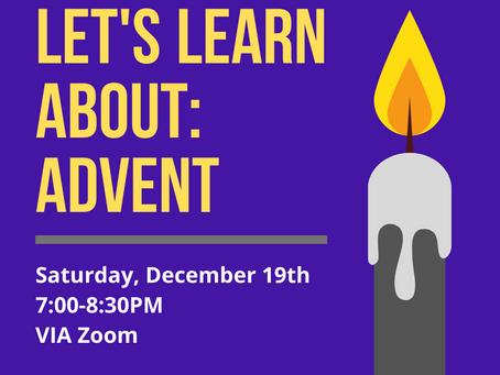 Dec 19: next Youth event (online!)