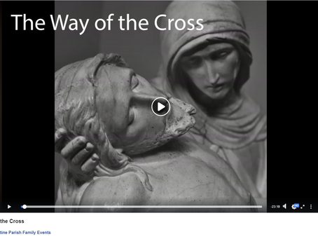Serra Club of Winnipeg, Next Wed Feb 24th, Way of the Cross for Vocations Live Stream