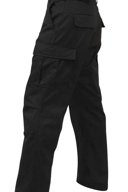 Black BDU Combat Pants