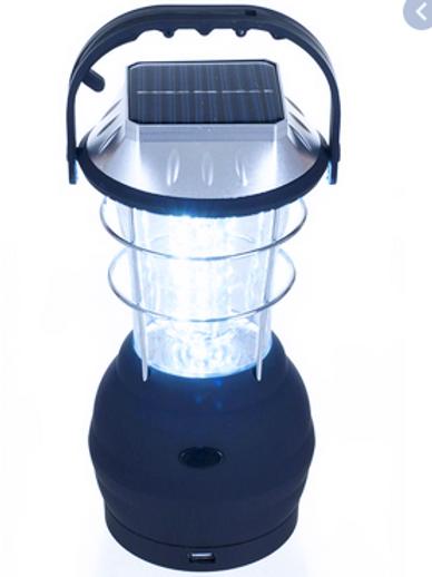 36-Bulb LED Solar and Handcrank Lantern