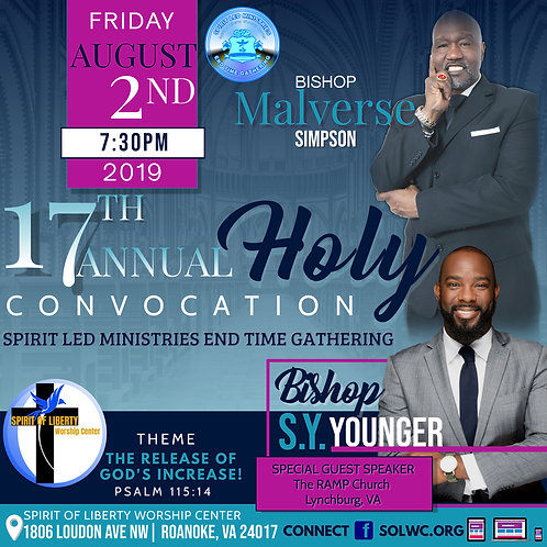 DVD-Bishop S.Y. Younger-17th Annual Convocation