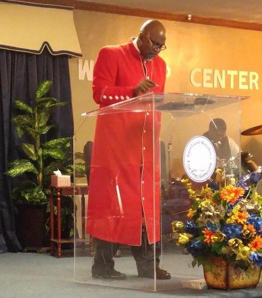 Bishop Malverse Simpson preaching