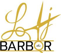 Lj the Barber logo Final JPEG 390x336.jp