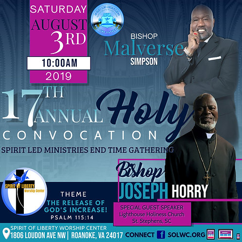 DVD-Bishop Joseph Horry-17th Annual Convocation