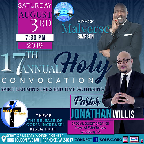 DVD-Pastor Jonathan Willis-17th Annual Convocation
