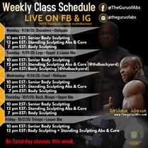 Guru Weekly Schedule Flyer for IG 1080x1