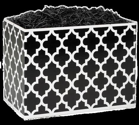 Geo Graphics Black Basket Box