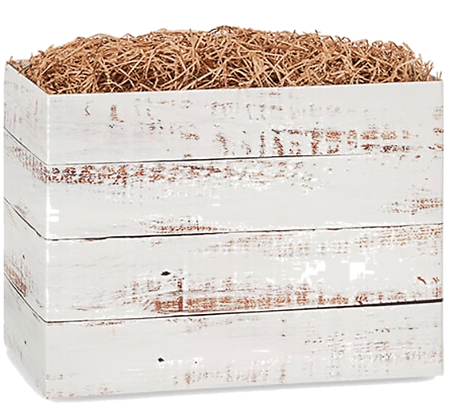 Distressed Wood Basket Box