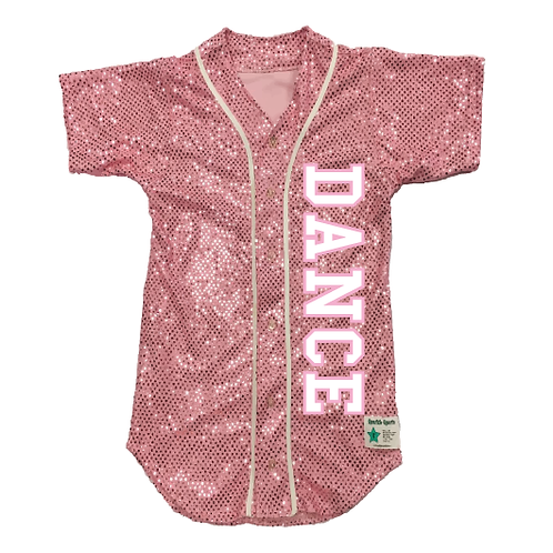Youth DANCE Sequin Baseball Jersey (19 Colors)