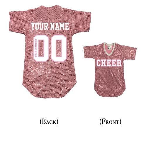 Custom CHEER Sequin Jersey Shirt (19 Colors)