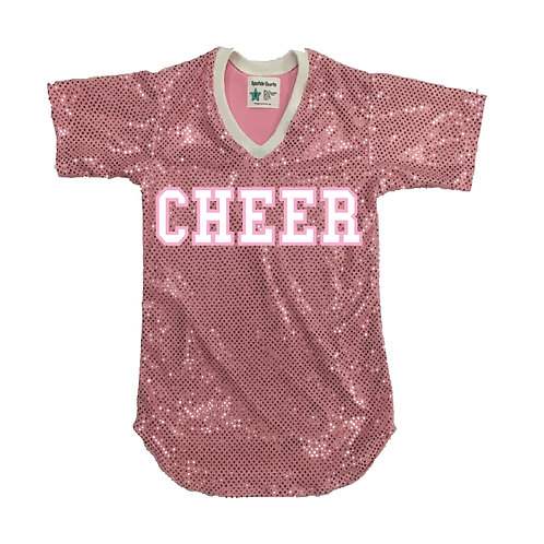 Youth CHEER Sequin Jersey Shirt (19 Colors)