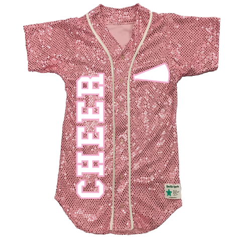 Youth CHEER Sequin Baseball Jersey (19 Colors)