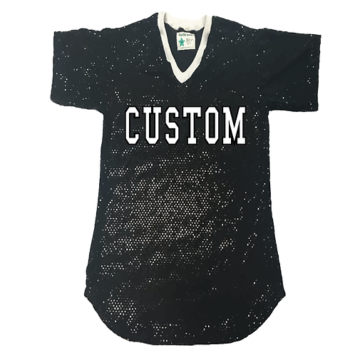 Adult Custom Sequin Long Jersey Shirt (19 Colors Available)