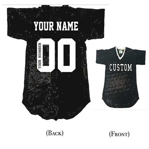 Adult Sequin Custom Jersey-Shirt (19 Colors Available)