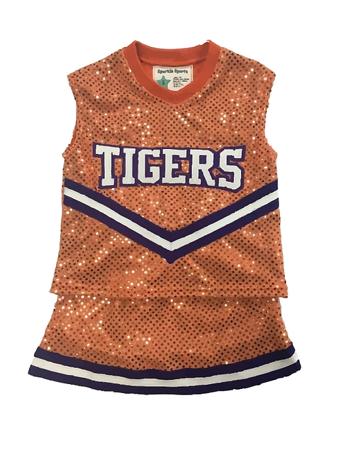 TIGERS Sequin Cheer Outfit