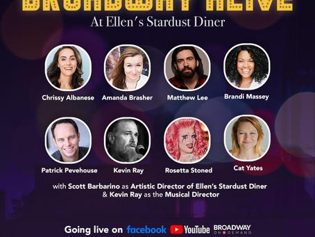 "Ellen's Stardust Diner ""Stardusters"" Concert—Streams Live on Saturday, January 30 9PM ET"