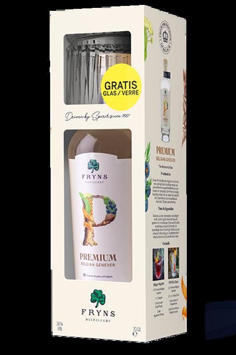 Fryns PREMIUM BELGIAN JENEVER 38% 0,7 L GIFT PACK + GLAS