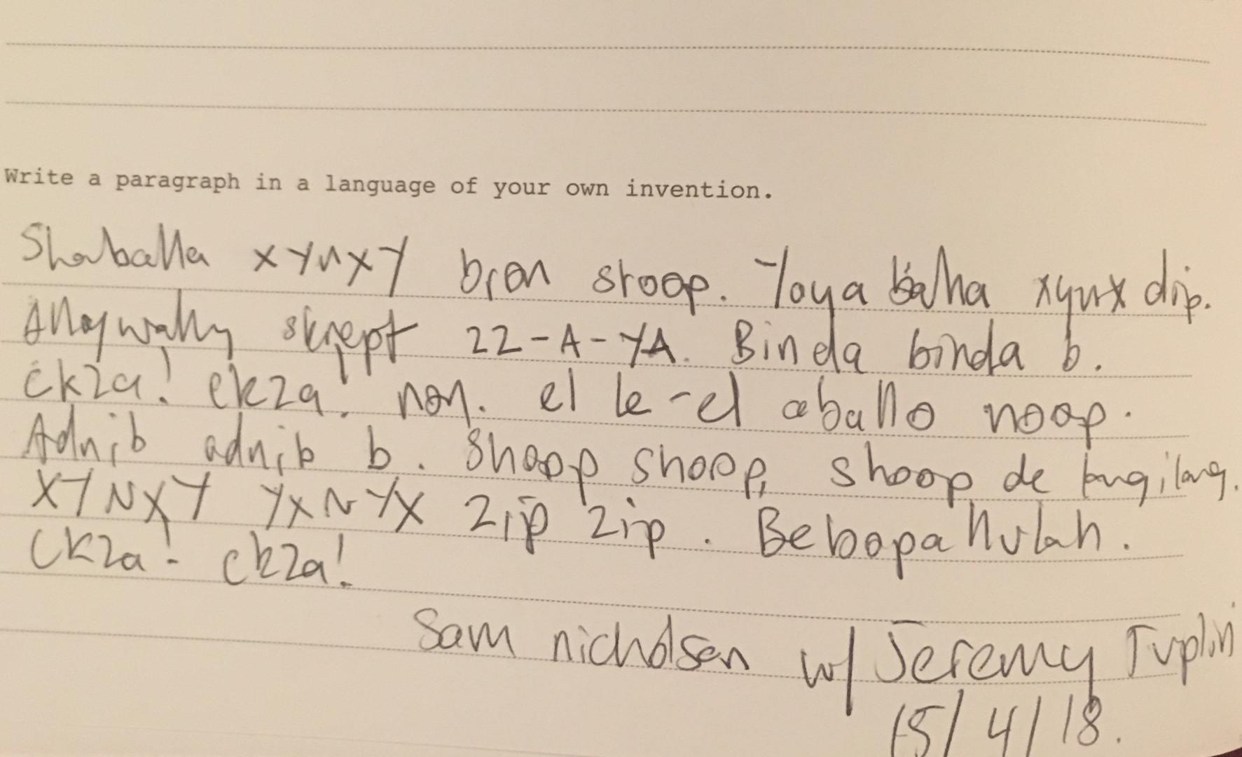 Visitor Book - Sam Nicholson