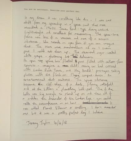 Visitor Book - Jeremy Tuplin
