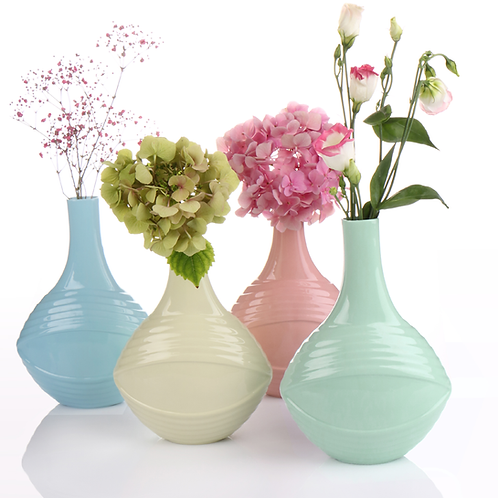 Porzellanvase, Pastellkeramik, eingefärbtes Porzellan,Pastelltöne, Pastellvasen, Porzellanwerkstatt in Wien, Keramik in Wien,