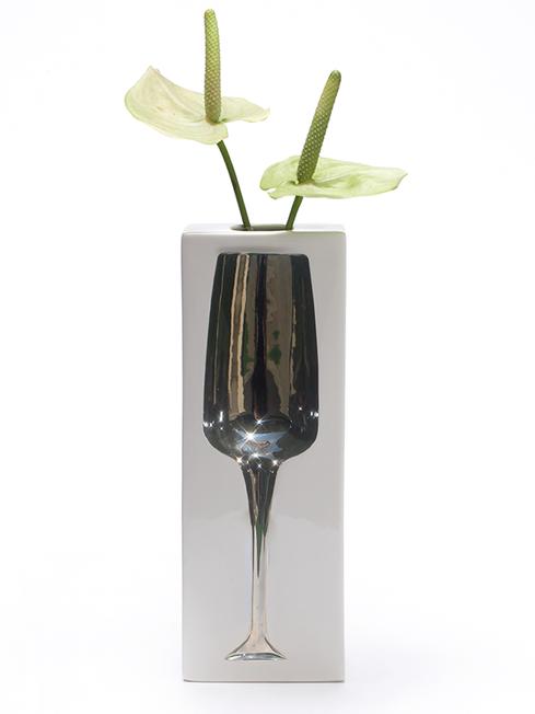 Sparkling - Vase platin