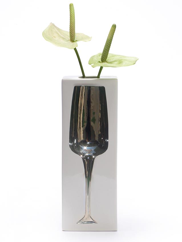 Sparkling - Vase platinum
