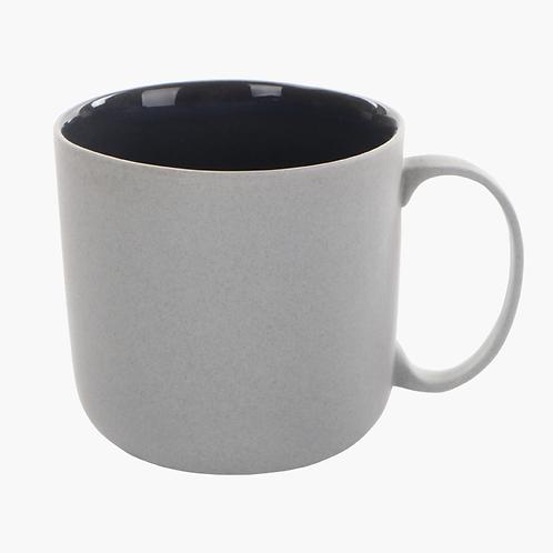 eingefärbtes Porzellan, Tasse, Kaffeetasse, Bonechina Porzellan, Grautöne